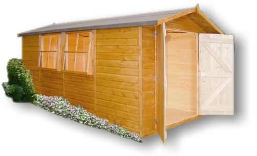Shire Jersey Apex Shed Wooden Garden Shed